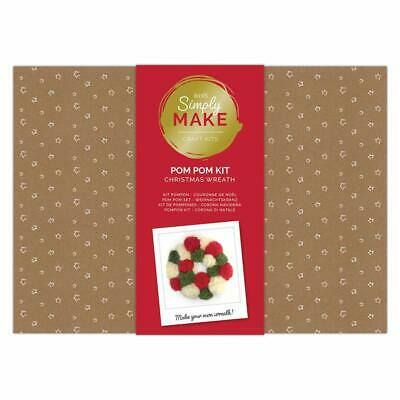 Docraft Simply Make Craft Kit Pom Pom Christmas Wreath Kit