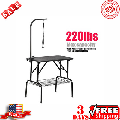 Adjustable Pet Dog Cat Grooming Table Professional Foldable Height Drying Table!