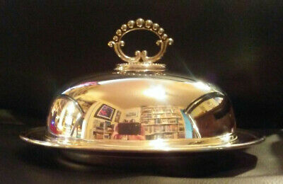 MAPPIN & WEBB PRINCES PLATE DOME OVER ERCUIS DISH, c1920