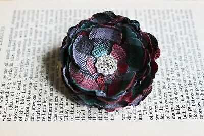 Custom Tartan Flower Brooch. Floral Buttonhole/ Lapel Pin. Scottish Wedding.