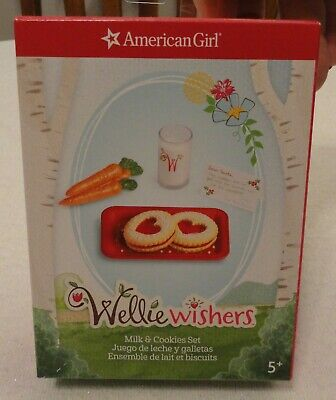 American Girl Welliewishers Milk and Cookies Set NEW in Box