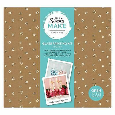 Simply Make by docrafts - Paint Your Own Glass Flutes Painting Kit Pack Of 2