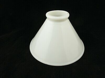 """Milk Glass Cone Shade 2 1/4"""" Fitter Replacement Globe Light Industrial Lamp"""