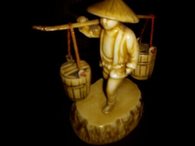 Vintage Bakelite Asian Statue Water carrying Highly Collectable