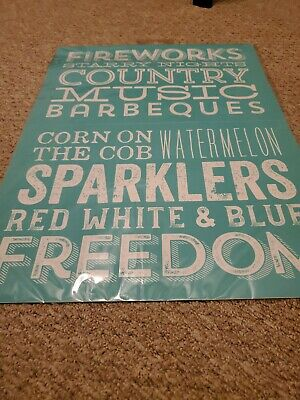 Chalk Couture transfer retired NEW Freedom Fireworks Sparklers Country Music E
