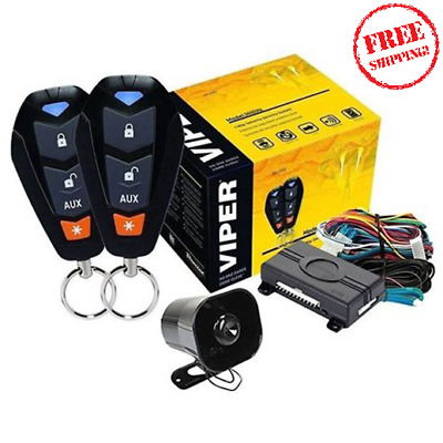 Security Car System Auto Starter Keyless Entry Alarm Engine Remote Start Fuel
