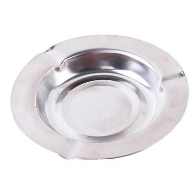 Round Stainless Steel Cigarette Ashtray Silver Portable Ashtray JJ
