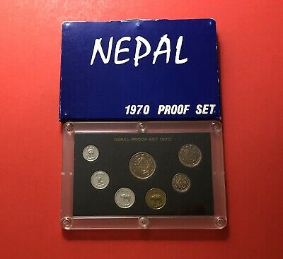 10 rupees 1971-2004 UNC 10 paisa Nepal set of 7 coins