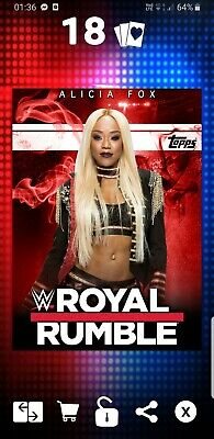 Topps WWE Slam Digital Card 23cc Alicia fox royal rumble 2019