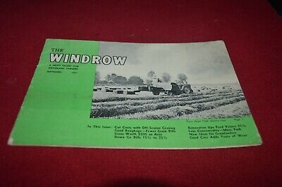 New Holland Windrow Digest For September 1951 Dealer's Brochure AMIL15