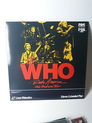 The Who Rocks America 1982 American Tour Laserdisc Video Disc LD Protect Cover