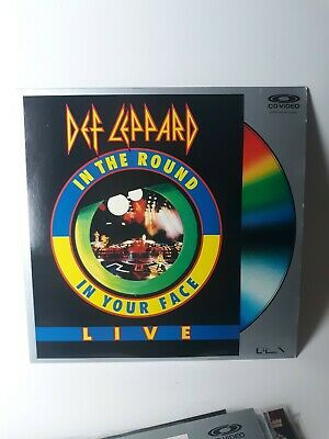 DEF LEPPARD IN THE ROUND IN YOUR FACE LIVE 1989 POLYGRAM LASERDISC LD CD Video