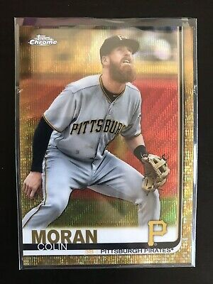 2019 Topps Chrome COLIN MORAN Gold Wave Refractor 24/50 Pirates