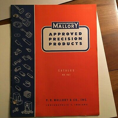 PR Mallory & Co. Approved Precision Products Catalog No. 467 1946-47