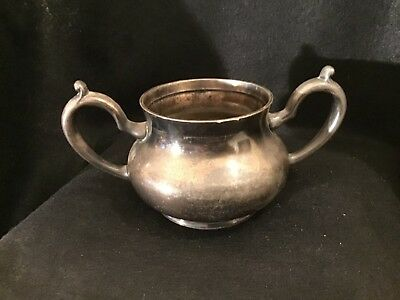 Lot# 1395. Vintage FB Rogers Co heavy silver plate sugar container
