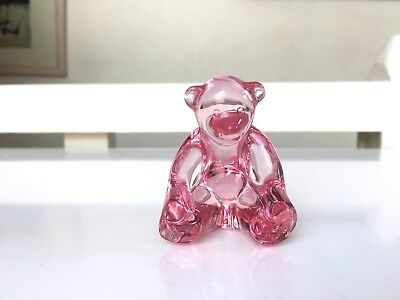 Ours Figurine Baccarat - Rose