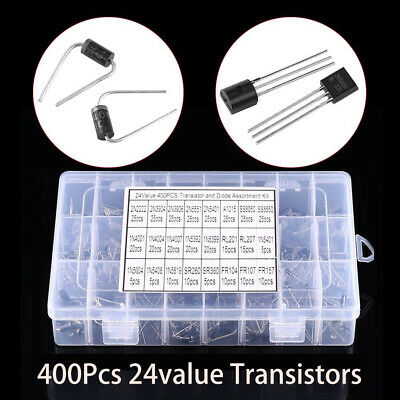 400x General Purpose Transistors (2N2222-FR157) 24value with Box Assorted Kit
