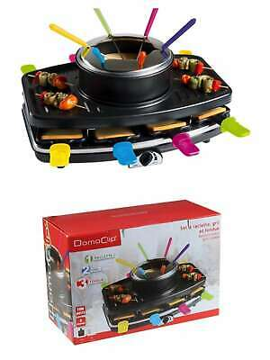Domoclip DOC107 Raclette Barbecue Fondue Kit de Table Plaque 8 PERS.55995872