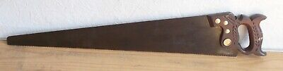 "Antique E.C. ATKINS & Co.  29.5"" Crosscut Hand Saw Carved Handle 1887 10 TPI"