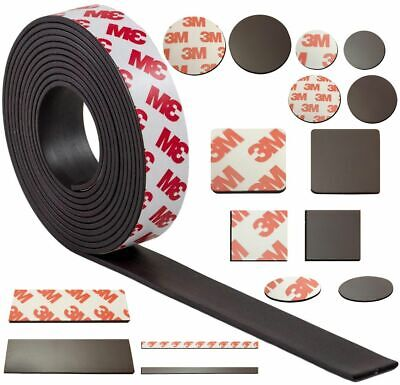 Magnetic Tape disc rectangle square sheets with 3M SELF ADHESIVE various amounts
