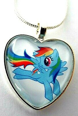 My Little Pony Rainbow Dash Heart Chain 18 Inch 4-6 Year Gift Box Party Birthday