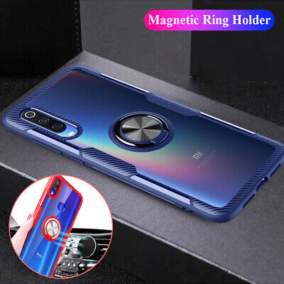 Magnetic Ring Stand Acrylic Armor Case Cover for Xiaomi 9T Pro/Redmi K20 Note 7