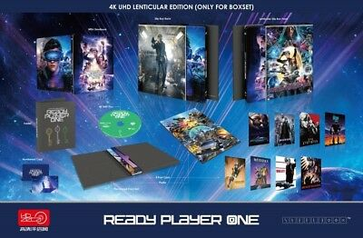 Gold HDZETA Ready Player One 4K UHD bluray steelbook lenticular