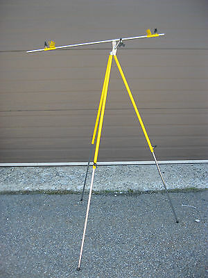 Artist Yellow Plein Air Folding Metal Easel, ,with adjustable pole Made in Italy