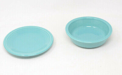 Fiesta Salad Plate and Bowl in Turquoise