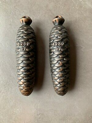 Pair Of Vintage Cuckoo Clock Weights 1.2kg