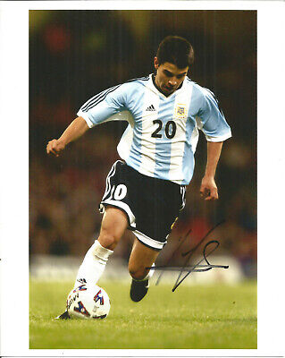 Javier Saviola Barcelona Real Footballer Autograph Signed Photograph F1670