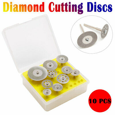 10pcs Diamond Cutting Off Disc Saw Blades Grinding Wheel  Rotary Kits