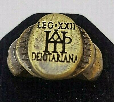 Ancient LEGIO XXII      Ring-Vintage-Antique ROMAN-BRONZE-RARE