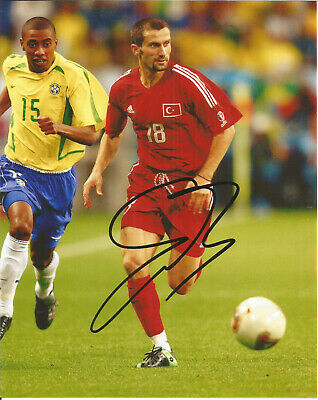 Ergün Penbe Turkish Footballer Autograph Signed Photograph F1682