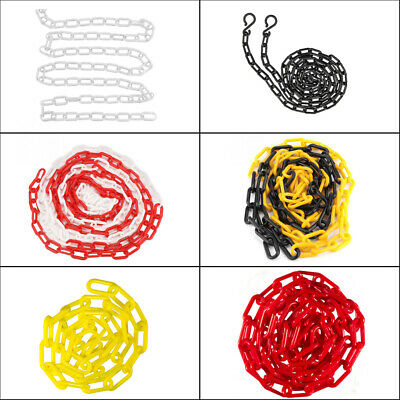 10M Colorful Plastic Chain Decorative Garden Decking Barrier Health Safety Fence