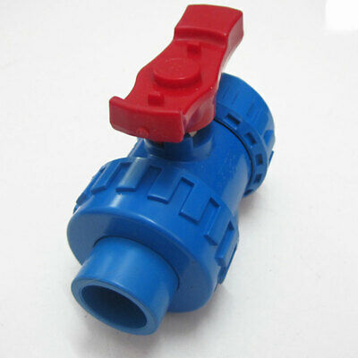 PVC Ball Valves Double Union Solvent Weld (Glue) & BSP (Threaded) 20-75mm