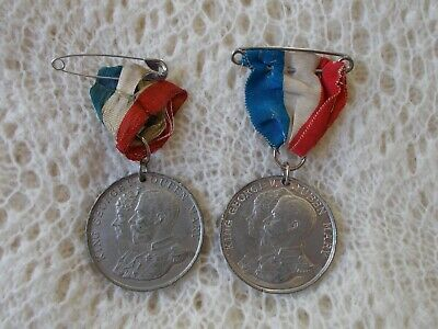 2 Old 1935 Jubilee Medals - King George & Queen Mary