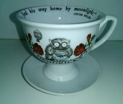 by Moonlight Hendricks Gin Footed TeaCup /& Saucer Oscar Wilde Quote A Dreamer..