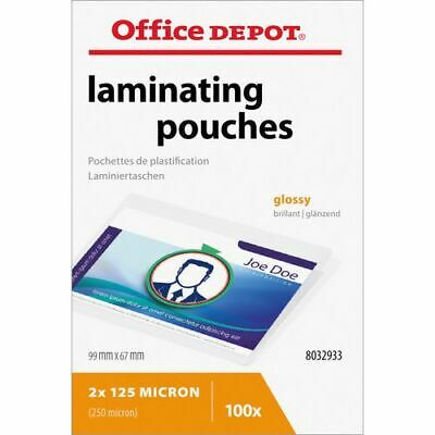 Office Depot Laminating Pouches 250 Microns 67 x 99 mm 100 Pieces