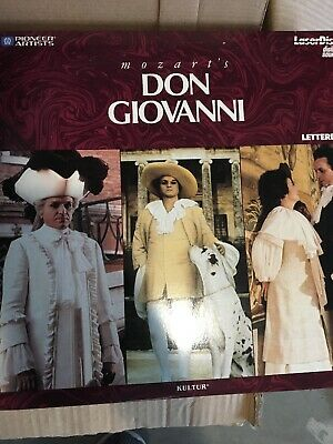 MOZART Don Giovanni LASERDISC Pioneer Very Rare Japan
