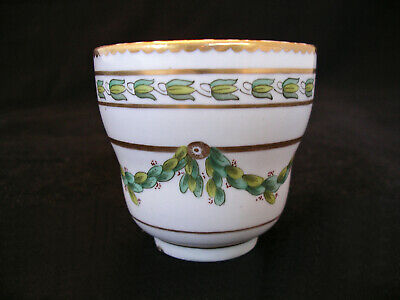"Antique English Porcelain Champion's Bristol ""Laurel Festoons"" pttn cup c.1775"