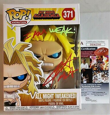 Chris Sabat SIGNED WEAKENED ALL MIGHT Funko Pop MY HERO ACADEMIA MHA JSA COA 3