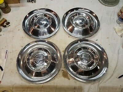 "1955 Mercury 15"" hubcaps      set #2"