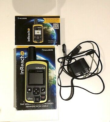 Delorme inReach SE - SOS satellite communicator 2-way text messaging Hardly Used