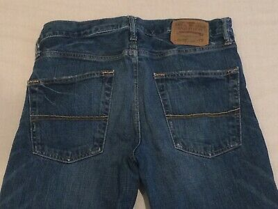 Pre-owned Abercrombie & Fitch Baxter Button Fly Blue Denim Jeans Men's 32 x 30