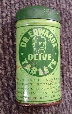 Vintage TIN Dr. EDWARDS' OLIVE TABLETS a PLEASANT LAXATIVE. Columbus, Ohio