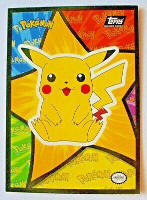 Topps Pokemon First Movie Complete Set of 18 Stickers Mint Condition Black Logo