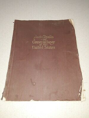 Cram's AUTO TRAILS & COMMERCIAL SURVEY of the UNITED STATES  antique map atlas