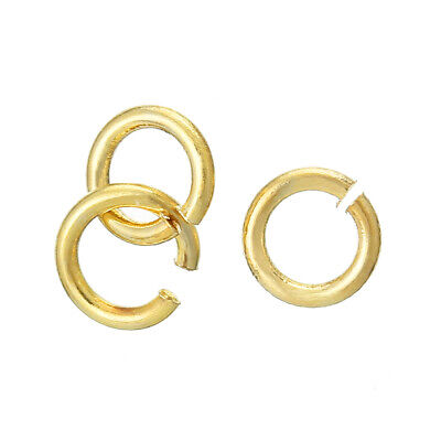 Findings - 5mm  18K Gold Plated Opened Jump Rings - 15 Pcs