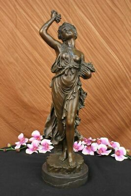 Antique Style Original Milo French Bronze Statue Of a Young Bacchus Statue Gift